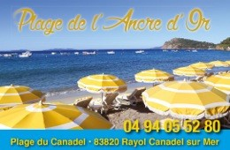 Le rayol Canadel : Beaches L'ANCRE D'OR (beach of Canadel)